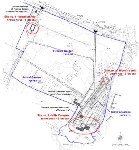 Map Ridvan Garden